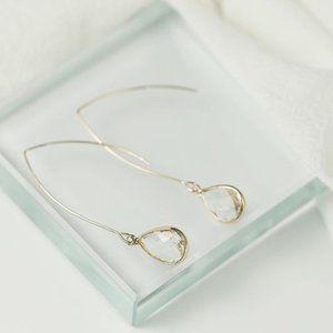 3/$20 Alloy Teardrop Gem Dangle Earrings